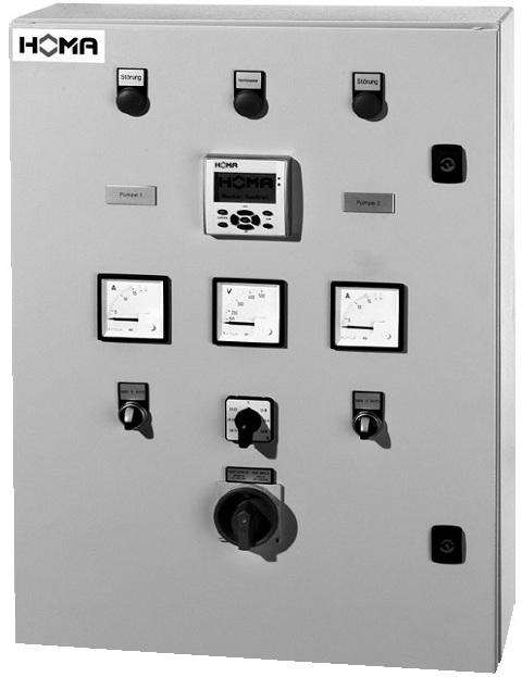 Шкафы и панели управления для насосов